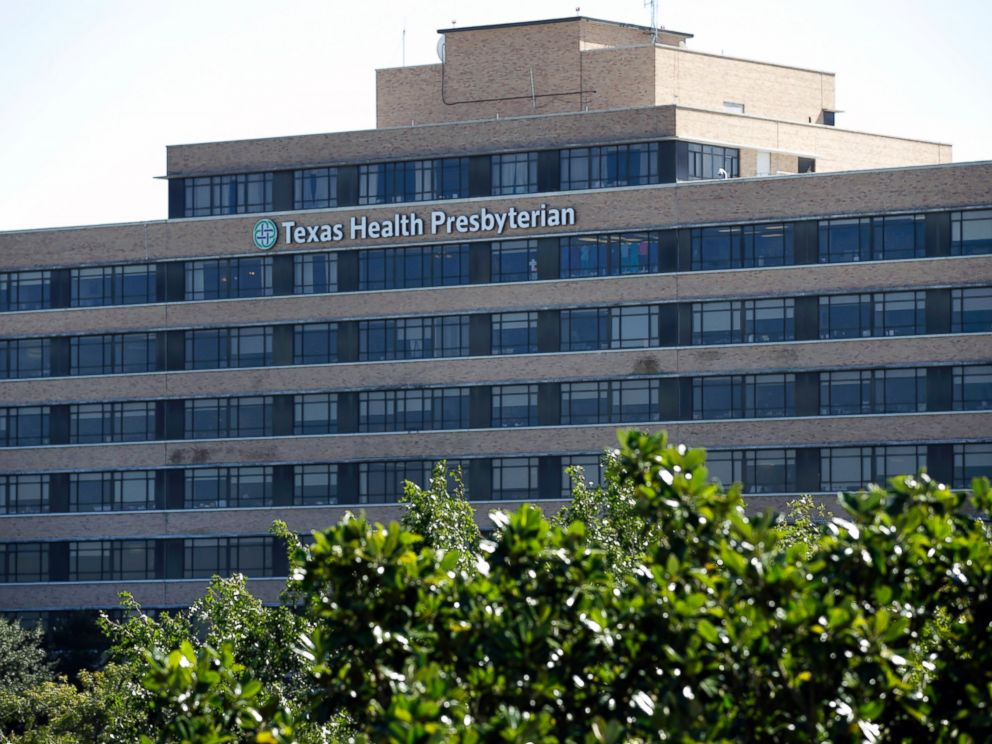 PHOTO: The main building of the Texas Health Presbyterian Hospital Dallas complex is shown, Oct. 16, 2014, in Dallas.