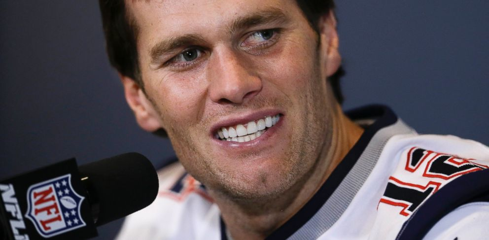 PHOTO: New England Patriots quarterback Tom Brady answers a question during a news conference, Jan. 28, 2015, in Chandler, Ariz.