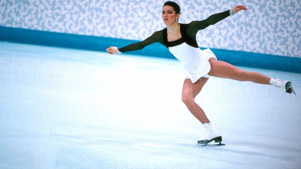 PHOTO: Nancy Kerrigan in competition at the 1994 Winter Olympics in Lillehammer, Norway.