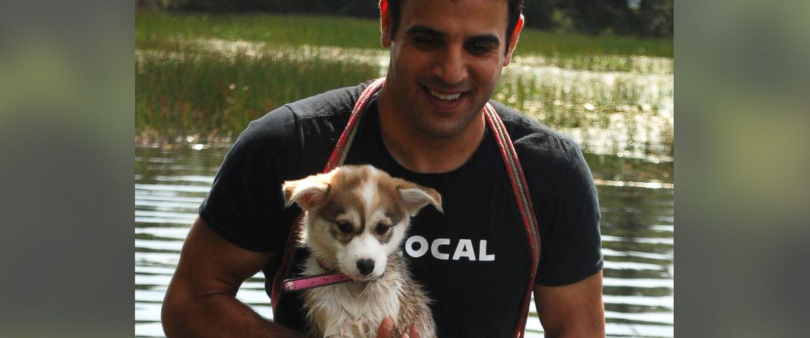 PHOTO: Rodney Habib and his dog Shubie.