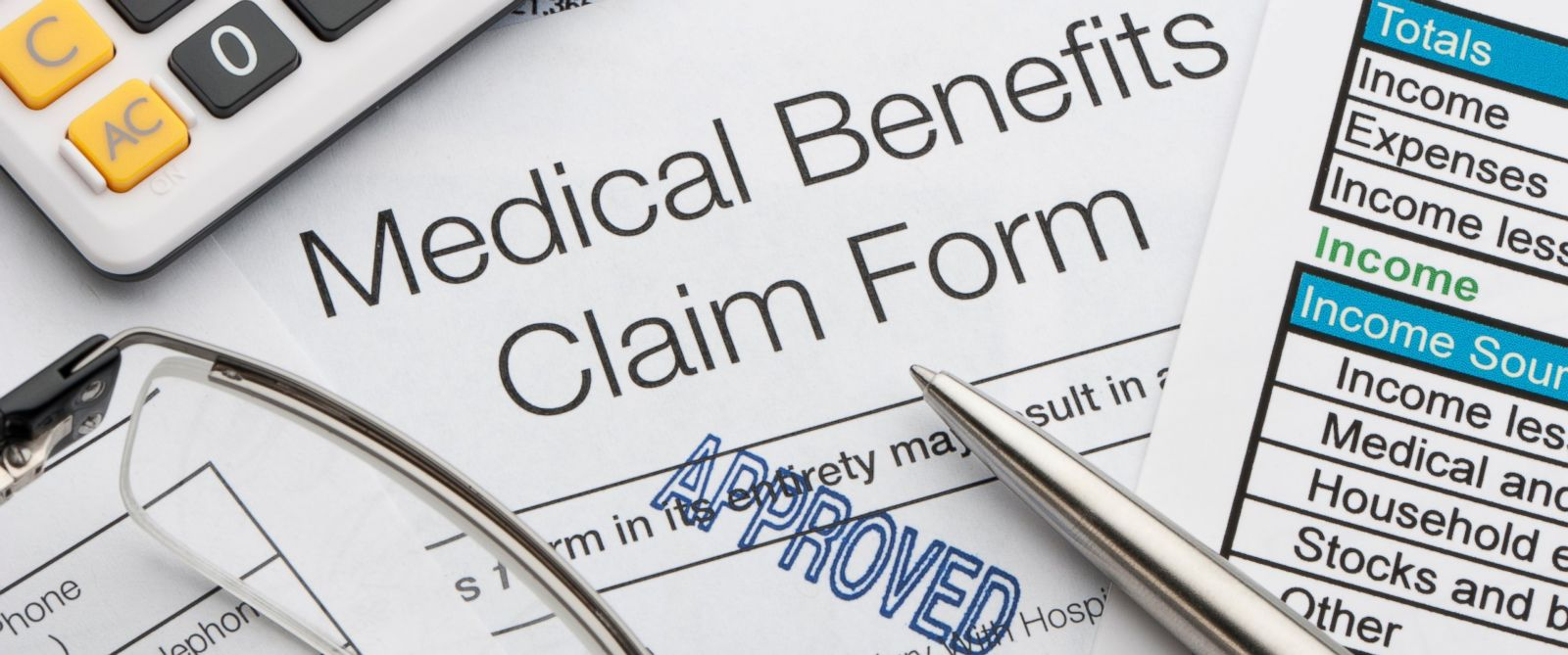 PHOTO: A medical benefits claim form is pictured in this undated stock photo.