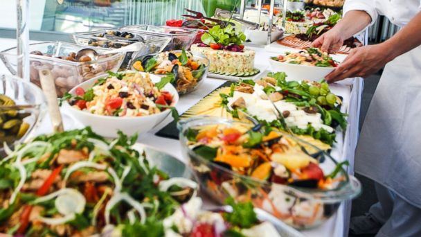 PHOTO: Moving through a buffet without looking at the food first increases how much you eat.