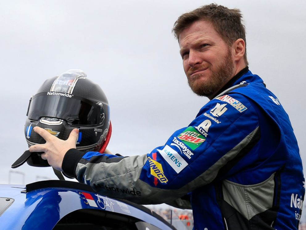 PHOTO: Dale Earnhardt Jr, driver of the Nationwide Chevrolet, prepares to drive during the NASCAR Sprint Cup Series Koblat 400 at Las Vegas Motor Speedway on March 6, 2016 in Las Vegas, Nevada.