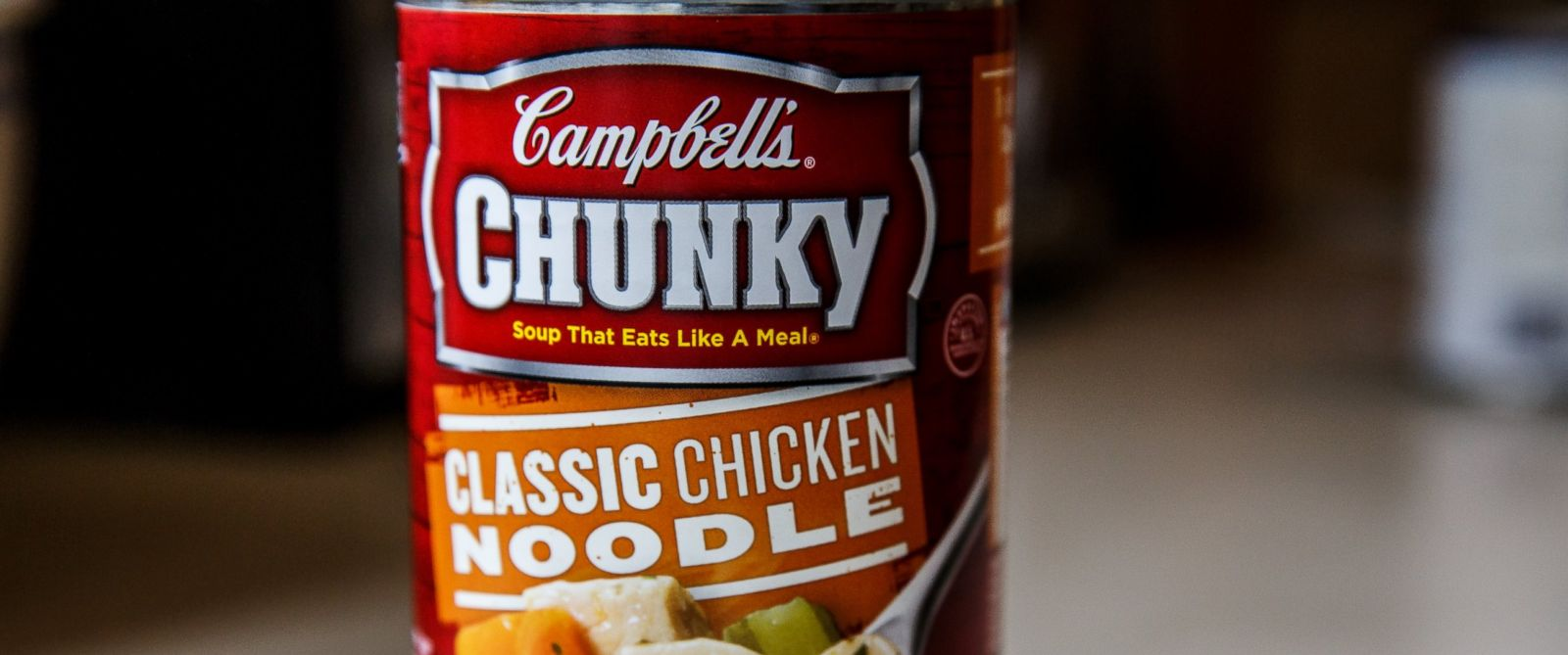 PHOTO: Campbells Chunky Classic Chicken Noodle Soup prepared and ready to heat and serve for lunch or dinner meals is pictured in this undated photo.