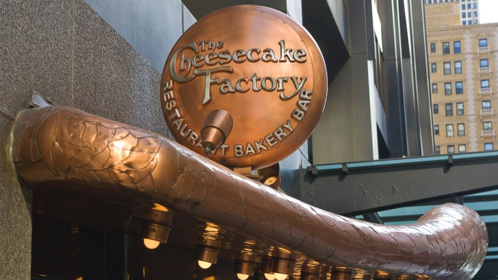 PHOTO: The entrance to the Cheesecake Factory restaurant in the John Hancock Center off Michigan Avenue is seen in this March 29, 2012, file photo in Chicago, Illinois.