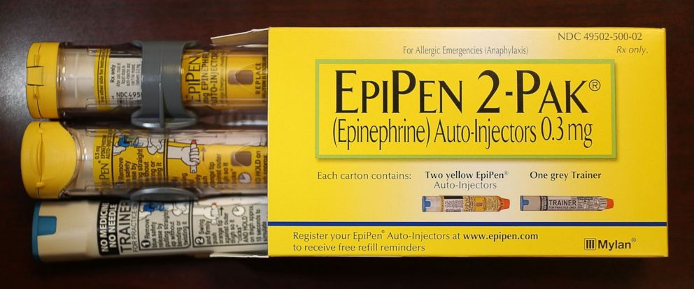 PHOTO: Mylan Inc., the company that makes EpiPen, has come under fire from consumers and lawmakers for the price it is currently charging for the epinephrine injection mechanism, pictured on Aug. 16, 2016, Hollywood, Florida.