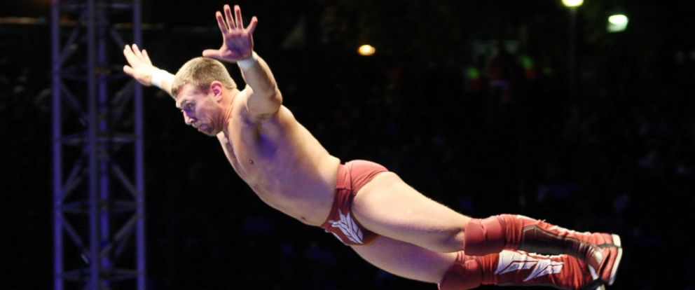 PHOTO: WWE Superstar Daniel Bryan flies off the ropes during the WWE Smackdown Live Tour at Westridge Park Tennis Stadium, July 08, 2011 in Durban, South Africa.