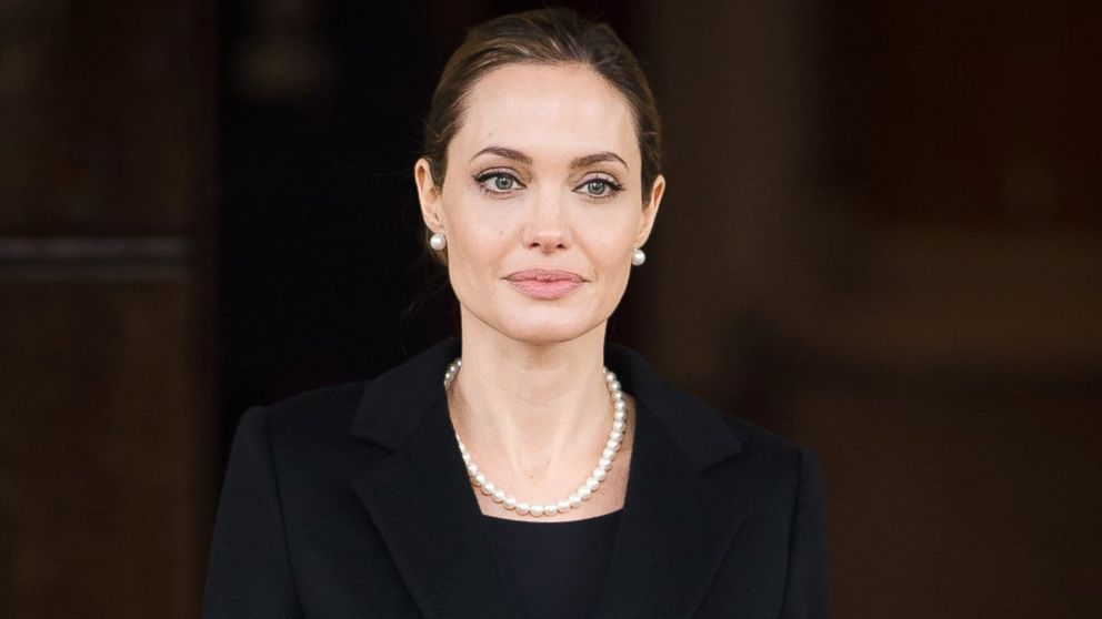 PHOTO: Angelina Jolie leaves Lancaster House in central London, April 11, 2013.