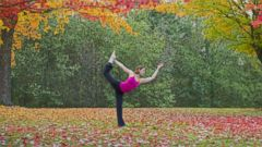 PHOTO: A woman practises yoga in the forest in this undated file photo.