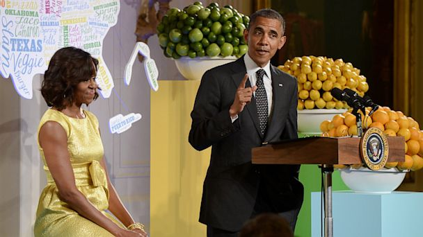 GTY barack michelle obama kids tk 130710 16x9 608 Obamas Favorite Food Quip Rekindles Broccoli Debate