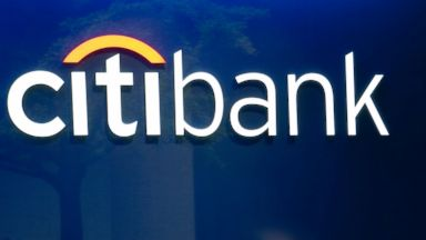PHOTO: The Citibank logo is displayed on the window of a Citigroup Inc. branch in New York, May 3, 2012.