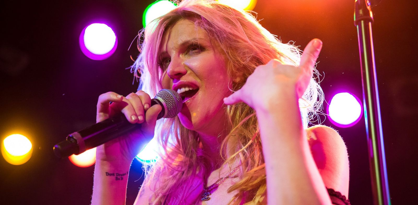 PHOTO: In this file photo, Courtney Love performs on Dec. 31, 2013 in West Hollywood, Calif.