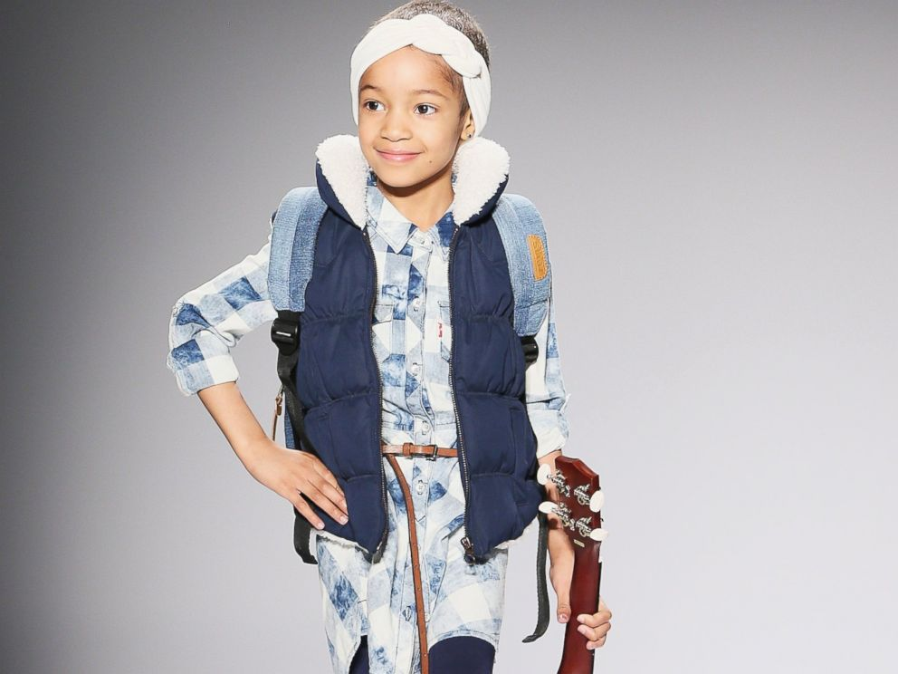 PHOTO: Leah Still walks the runway at the Nike Levis Kids Rock fashion show during Mercedes-Benz Fashion Week Fall 2015 at The Salon at Lincoln Center, Feb. 12, 2015, in New York.