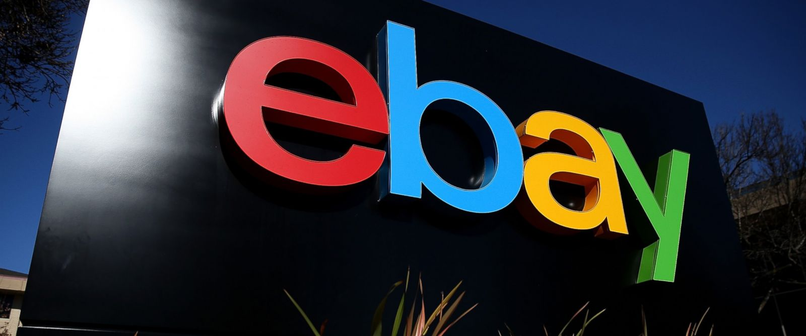 PHOTO: A sign is posted in front of the eBay headquarters, in San Jose, Calif., in this Jan. 22, 2014 file photo.