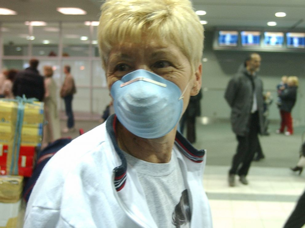 PHOTO: In the wake of a SARS outbreak, Laura Rolls of North Carolina is pictured in Toronto, Canada on April 2, 2003.