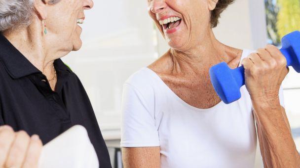 PHOTO: Older people should get regular exercise.