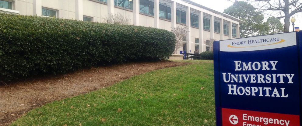 PHOTO: Exteriors of Emory University Hospital are seen in this file photo Feb. 4, 2015 in Atlanta.