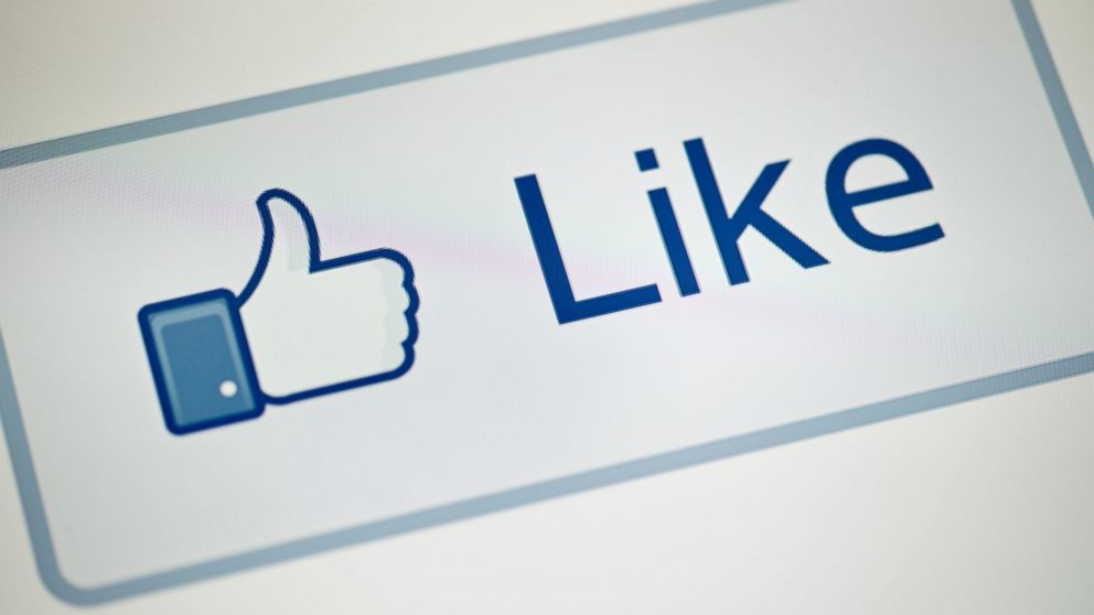 "PHOTO: A view of Facebooks ""Like"" button is pictured on May 10, 2012 in Washington, D.C."