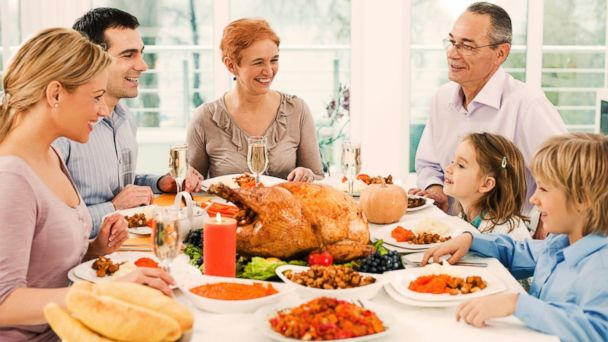 GTY family thanksgiving dinner 153642895 jt 131124 16x9 608 Eat It to Beat It: Thanksgiving Swaps to Trim Calories, Sugar