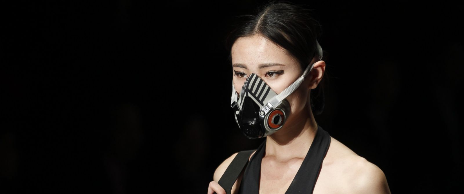 PHOTO: Various style of facial mask appear at China international fashion week, Oct. 28, 2014, in Beijing.
