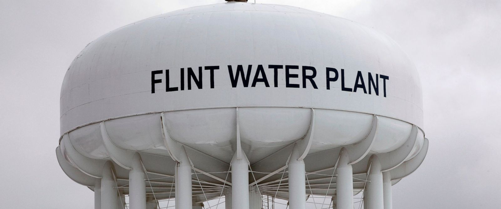 PHOTO: The Flint Water Plant tower is shown, Jan. 13, 2016, in Flint, Michigan.
