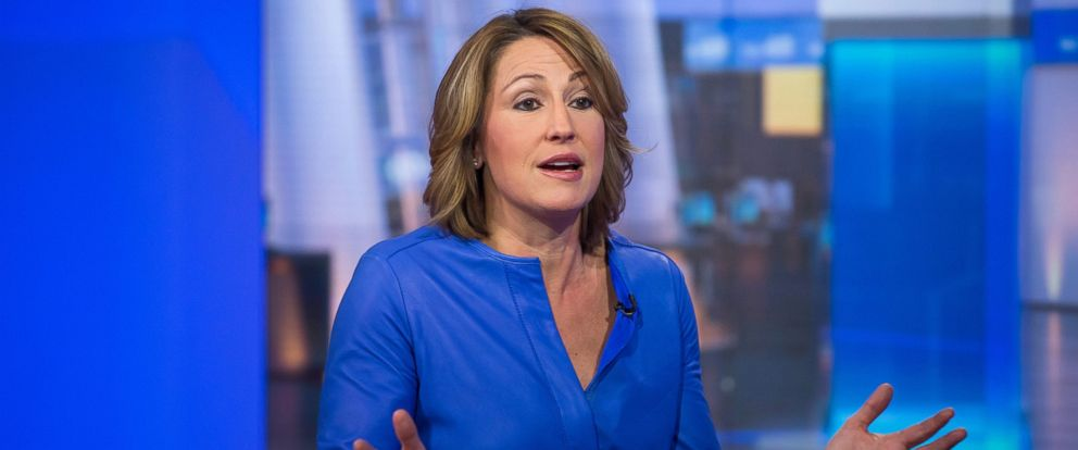 PHOTO: Heather Bresch, chief executive officer of Mylan NV, speaks during a Bloomberg Television interview in New York, Feb. 11, 2016.