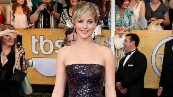 PHOTO: Jennifer Lawrence arrives at the 20th Annual Screen Actors Guild Awards at the Shrine Auditorium on Jan.18, 2014.