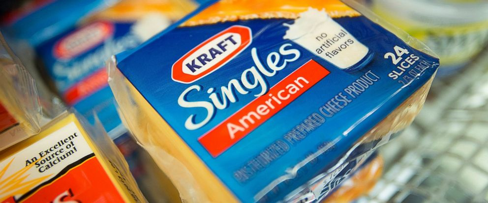 PHOTO: Packages of Kraft Foods Group Inc. Singles cheese slices are displayed for sale at a supermarket in New York, Nov. 5, 2012.