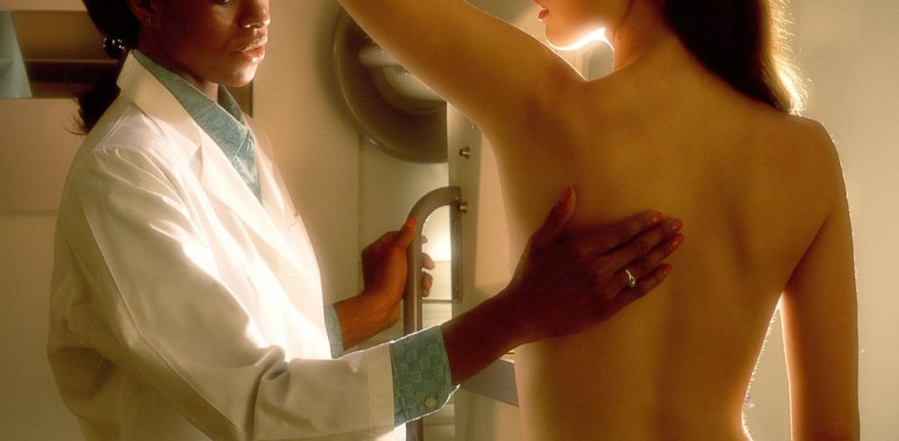 PHOTO: A woman receives a breast exam.