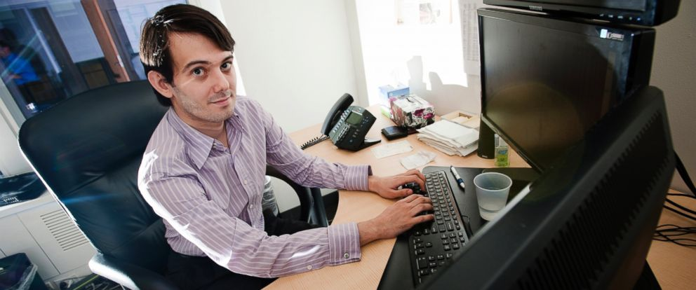 PHOTO: Martin Shkreli, chief investment officer of MSMB Capital Management, sits for a photograph in his office in New York, Aug. 10, 2011.