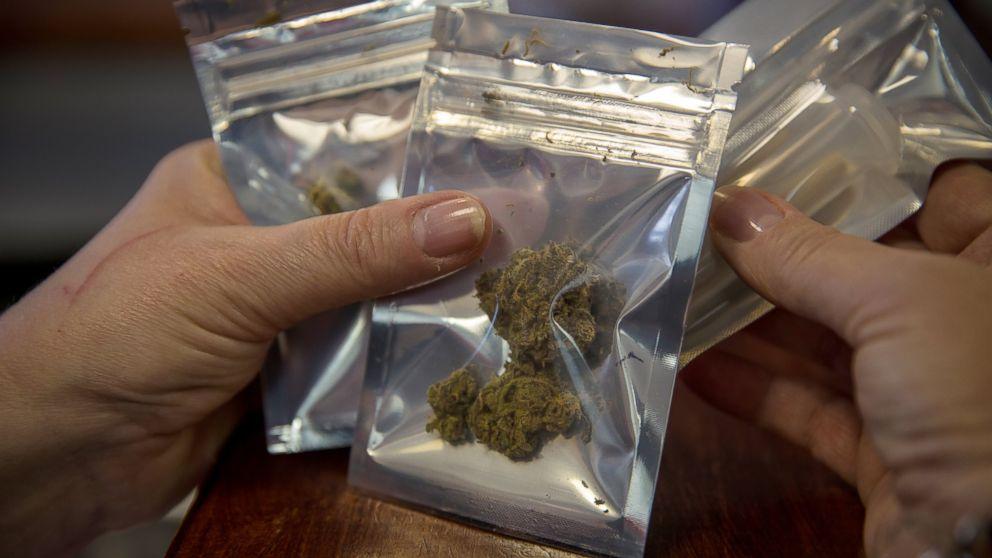 PHOTO: Medical marijuana is dispensed at the Takoma Wellness Center, Oct. 10, 2014, in Takoma Park, DC.