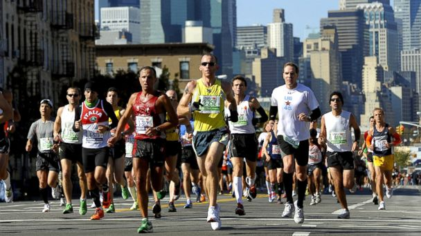 PHOTO: Runners make their way through Queens during the 2011 ING New York City Marathon in New York, Nov. 6, 2011.
