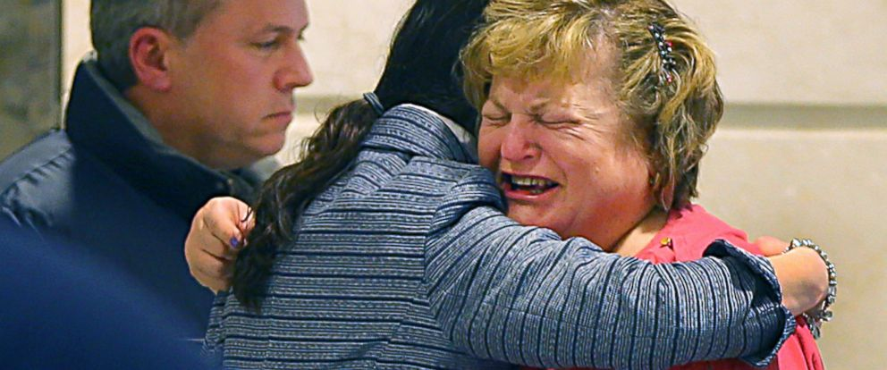 PHOTO: Linda Pelletier cries as she is consoled by her attorney, Christine Tennyson after a ruling was issued saying that Justina Pelletier could not return home to her parents.
