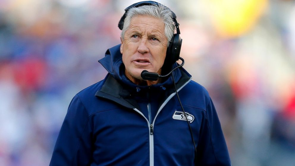 PHOTO: Head coach Pete Carroll of the Seattle Seahawks looks on against the New York Giants at MetLife Stadium, Dec. 15, 2013, in East Rutherford, New Jersey.
