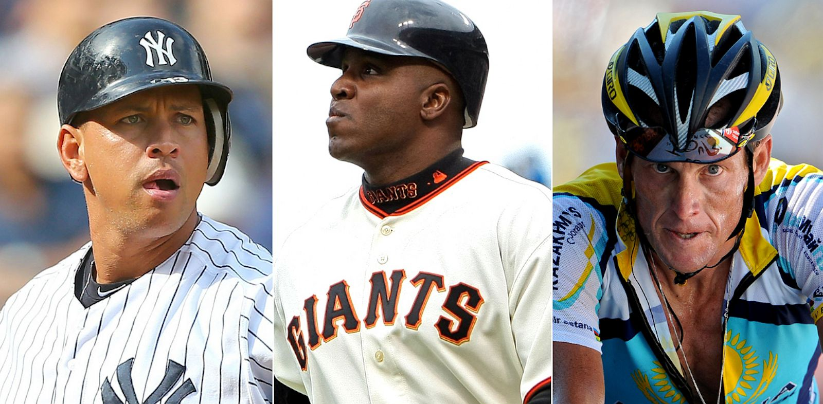 PHOTO: Alex Rodriguez, Barry Bonds and Lance Armstrong