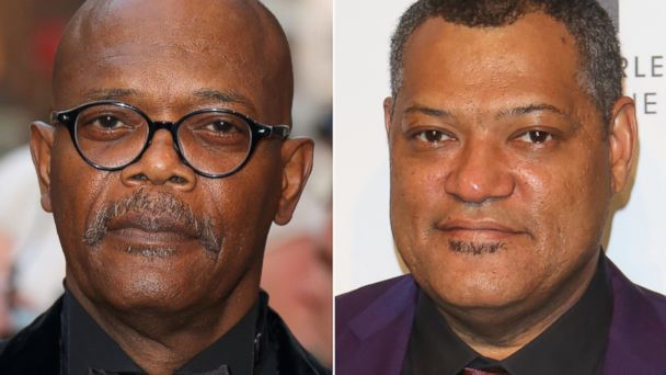 GTY sam jackson lawrence fishburne split jtm 140210 16x9 608 Samuel L. Jackson Tells News Anchor Im Not Laurence Fishburne