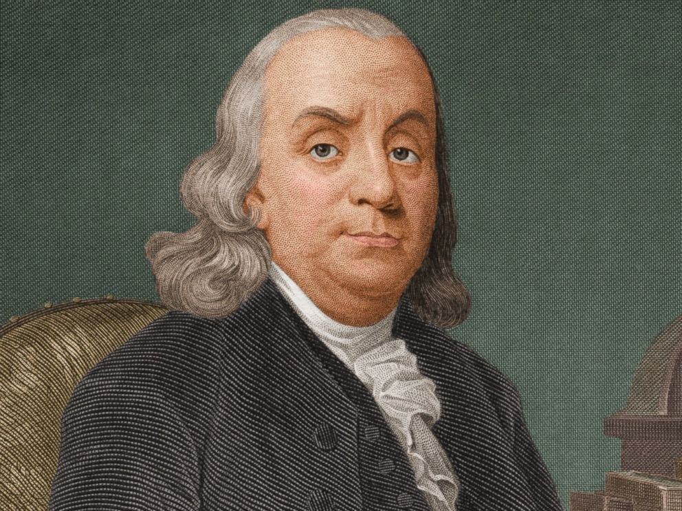 PHOTO: Benjamin Franklin slept from 10 p.m. until 5 a.m., according to author Mason Currey, who wrote a book about the daily rituals of geniuses.