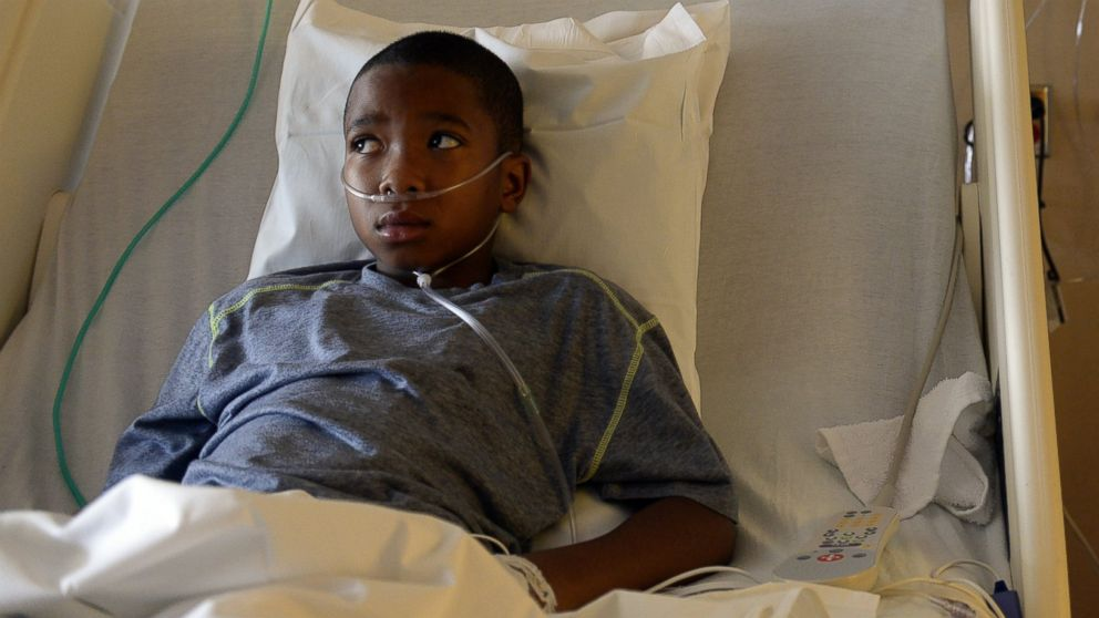 PHOTO: Nine-year-old Jayden Broadway of Denver is being treated for Enterovirus 68 at the Childrens Hospital Colorado on Sept. 8, 2014 in Aurora, Colo.