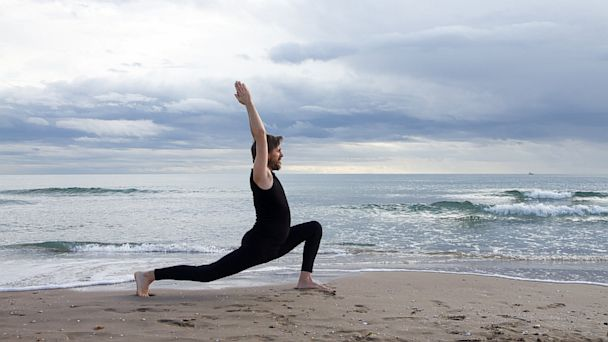 PHOTO: Yoga at the beach.
