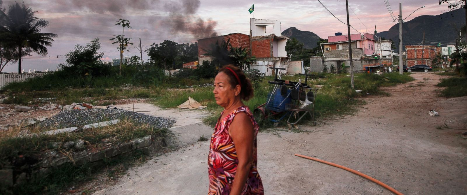 PHOTO:Marize do Amor Divino, who said she was diagnosed with the Zika virus, walks in the mostly demolished Vila Autodromo favela community, Feb. 25, 2016, in Rio de Janeiro.
