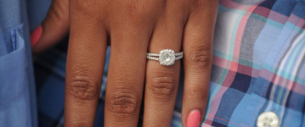 PHOTO: Amber Vinson said that her engagement ring seen in this photo taken, June 22, 2014, was destroyed by cleaning crews after her Ebola diagnosis.