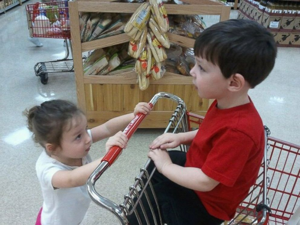 PHOTO: Avery Medvin will sometimes act like an older sibling for Xander even though theyre twins.