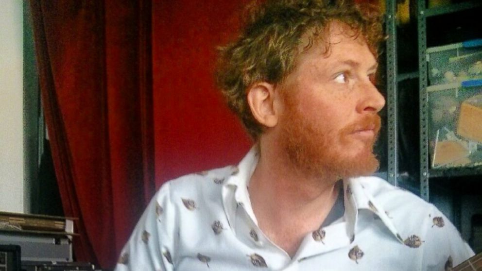 "PHOTO: Brian Braiker, a guitar player in the band, the ""DeLorean Sisters,"" is often mistaken as Irish because of his red hair."