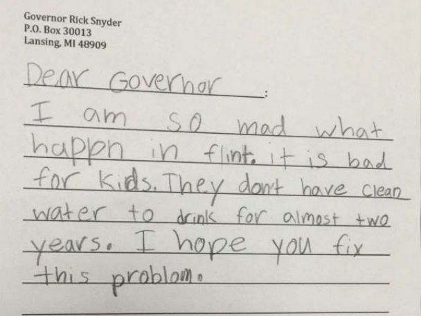 photo a girl scout troop is getting involved in the flint water crisis and writing