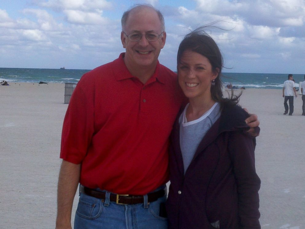 PHOTO: Lauryn Lax standing with her father.