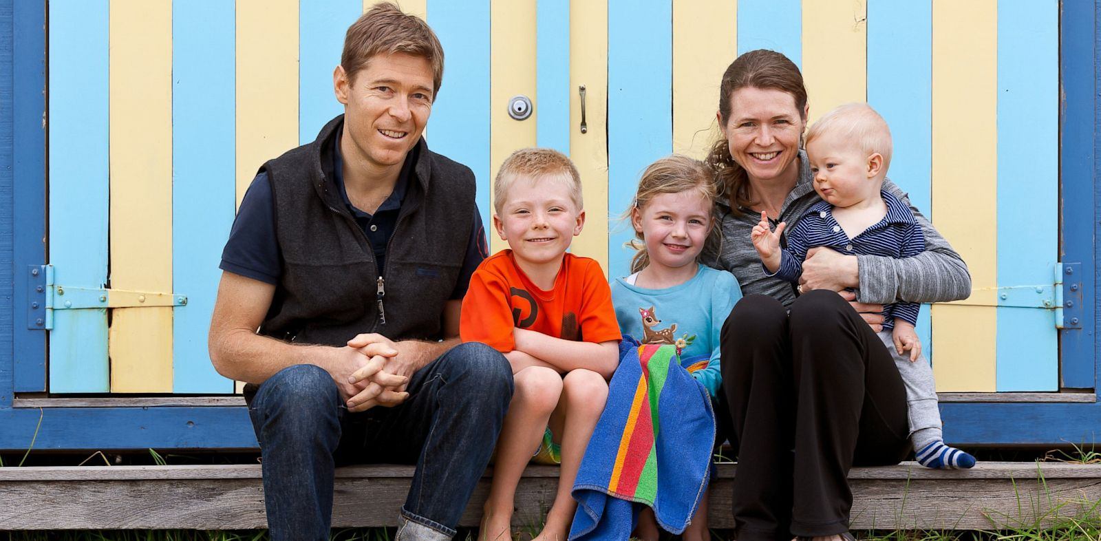 PHOTO: Nick and Amy Auden with their children, Locky, 7, Hayley, 5, and Evan, 1.