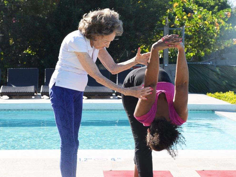 PHOTO: Tao Porchon-Lynch, of White Plains, New York, still teaches eight yoga classes per week at the age of 97.