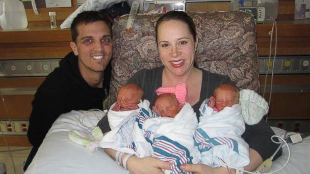 HT Triplets one mar 140225 16x9 608 Rare Identical Triplets Have Mom Thrilled and Nervous