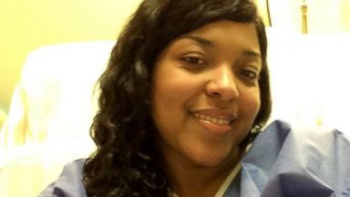PHOTO: Amber Vinson, who contracted Ebola earlier this month, is seen in her room at Emory University Hospital in Atlanta.