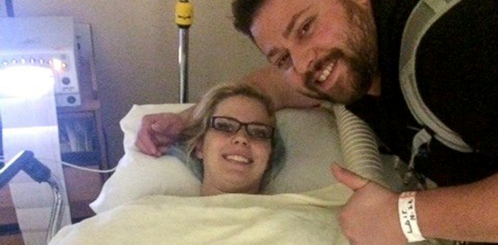 PHOTO: Tyson and Ashley Gardner traveled to California so Ashley Gardner could undergo emergency surgery.